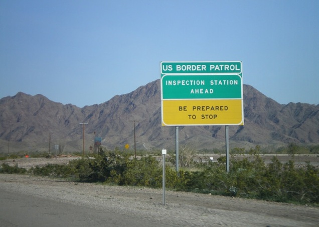 1716 7 dia Viagem para Arizona - interstate 8 - Border Patrol