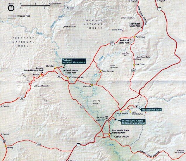 1813 7 dia Camp Verde - Mapa