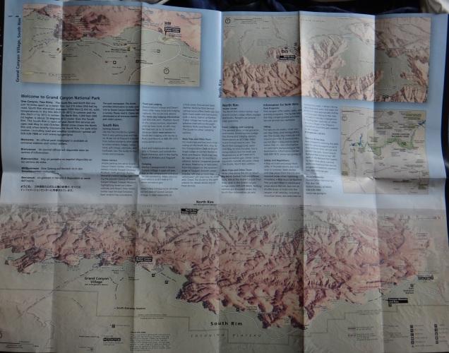 1990 8 dia Arizona Grand Canyon mapa