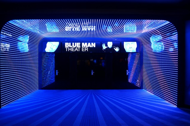 Blue Man Theater Entrance at Monte Carlo in Las Vegas-L
