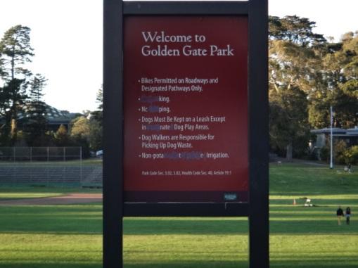 3348 11 dia San Francisco Gonden Gate Park